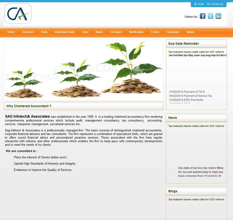 Chartered Accountant Theme45