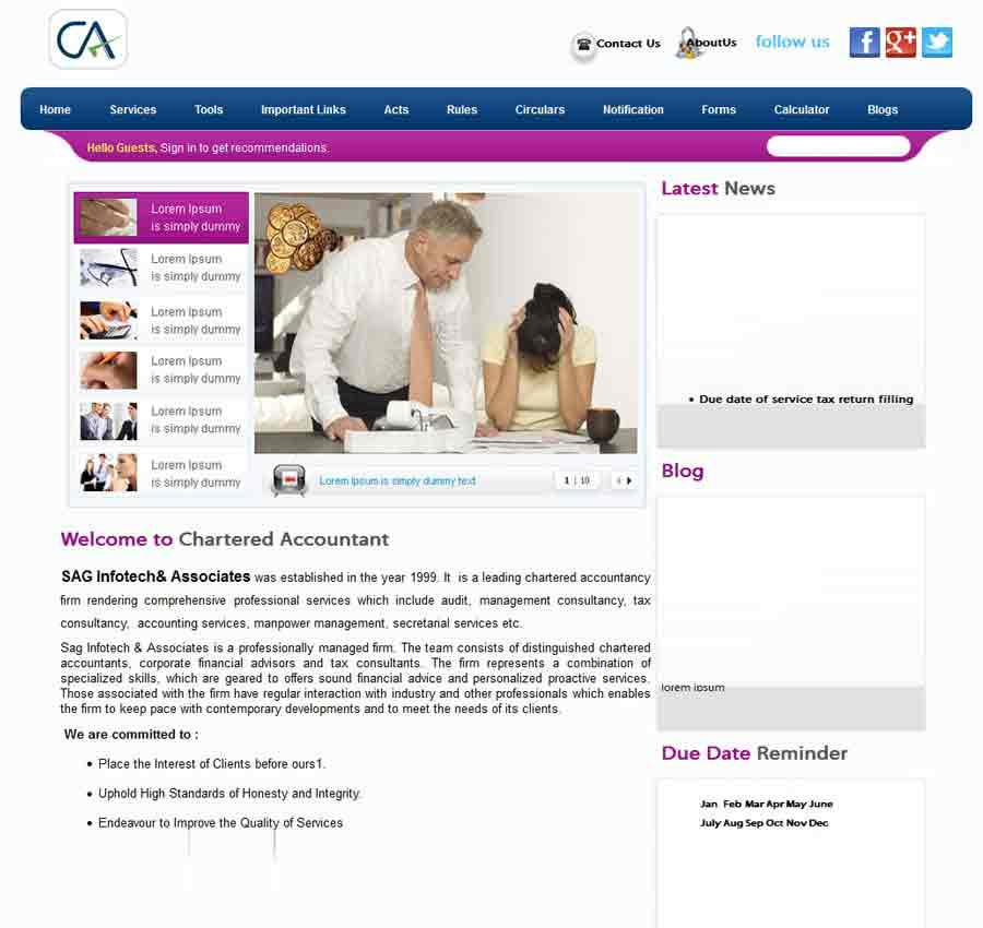 Chartered Accountant Theme10