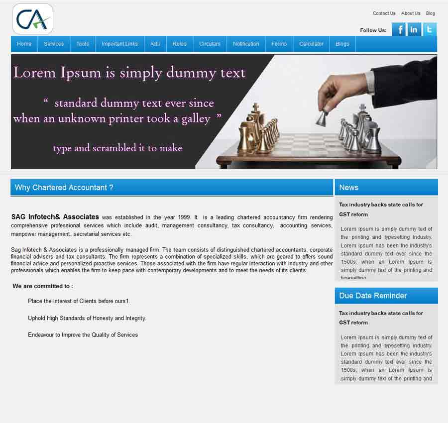 Chartered Accountant Theme23