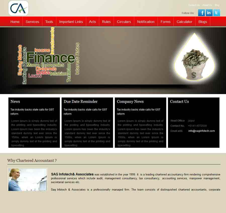 Chartered Accountant Theme24