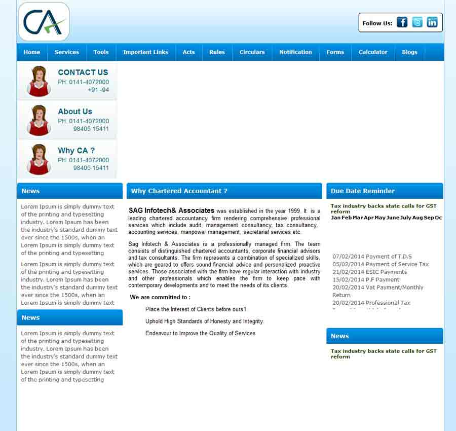 Chartered Accountant Theme47