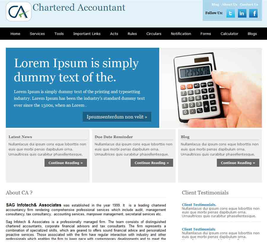 Chartered Accountant Theme34