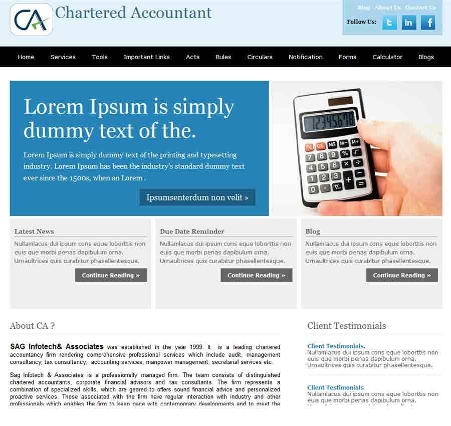 Chartered Accountant Theme34