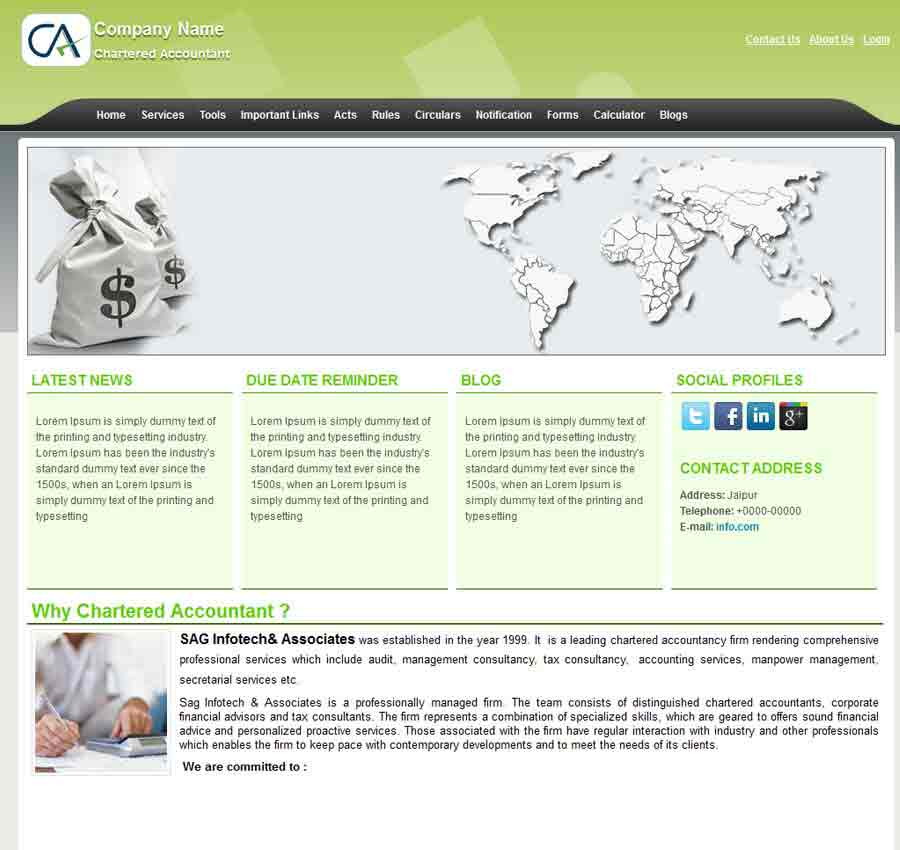 Chartered Accountant Theme36
