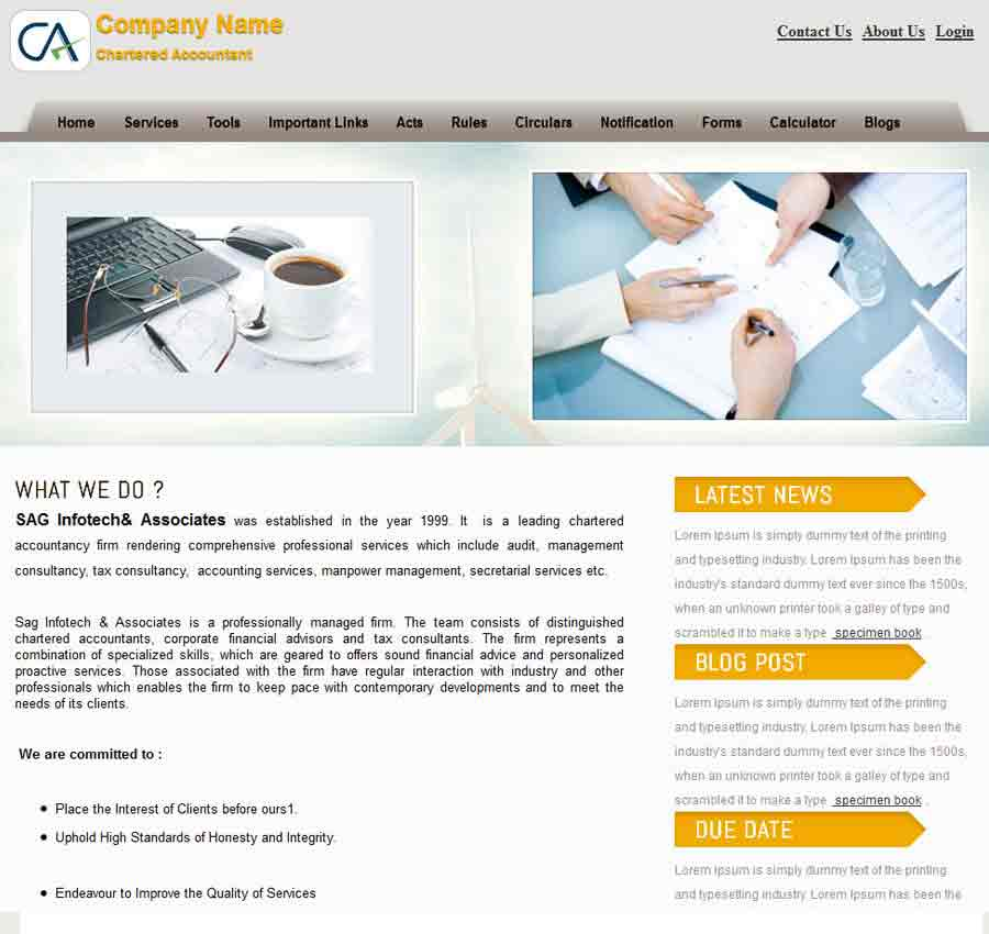 Chartered Accountant Theme38