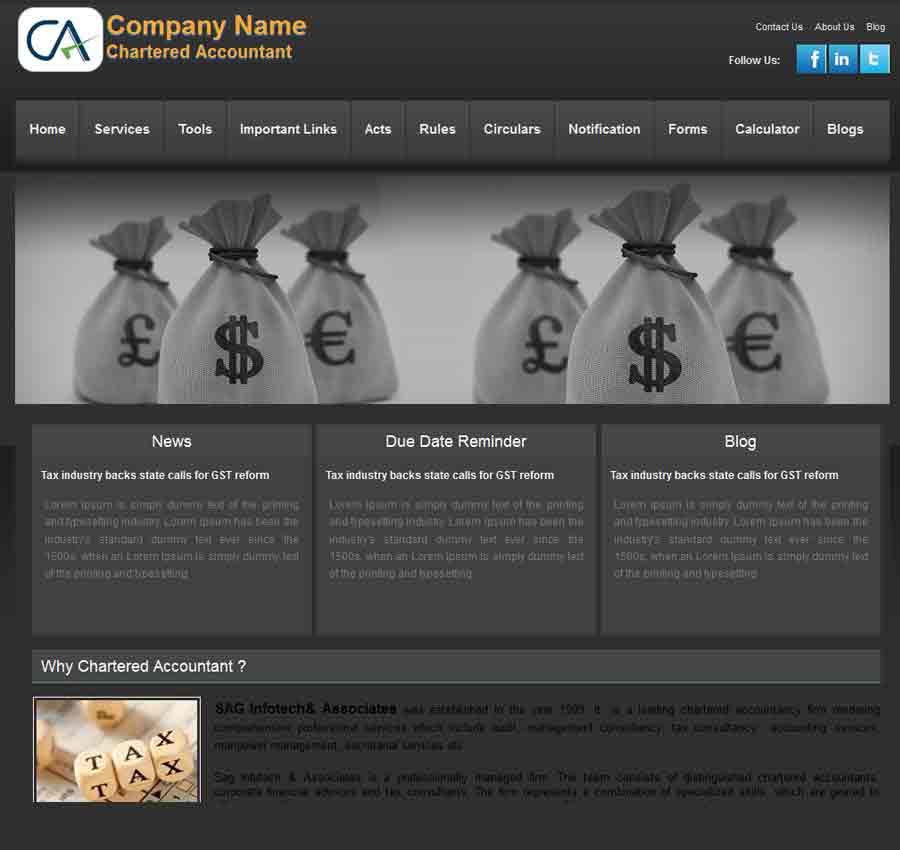 Chartered Accountant Theme40
