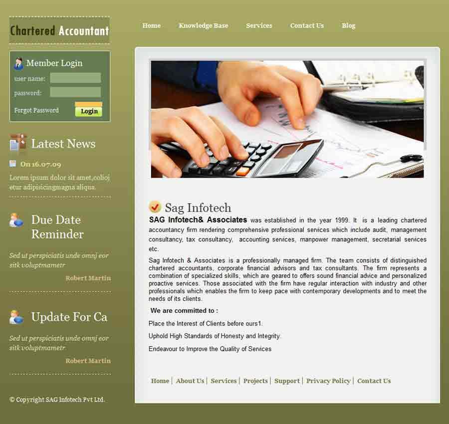 Chartered Accountant Theme52
