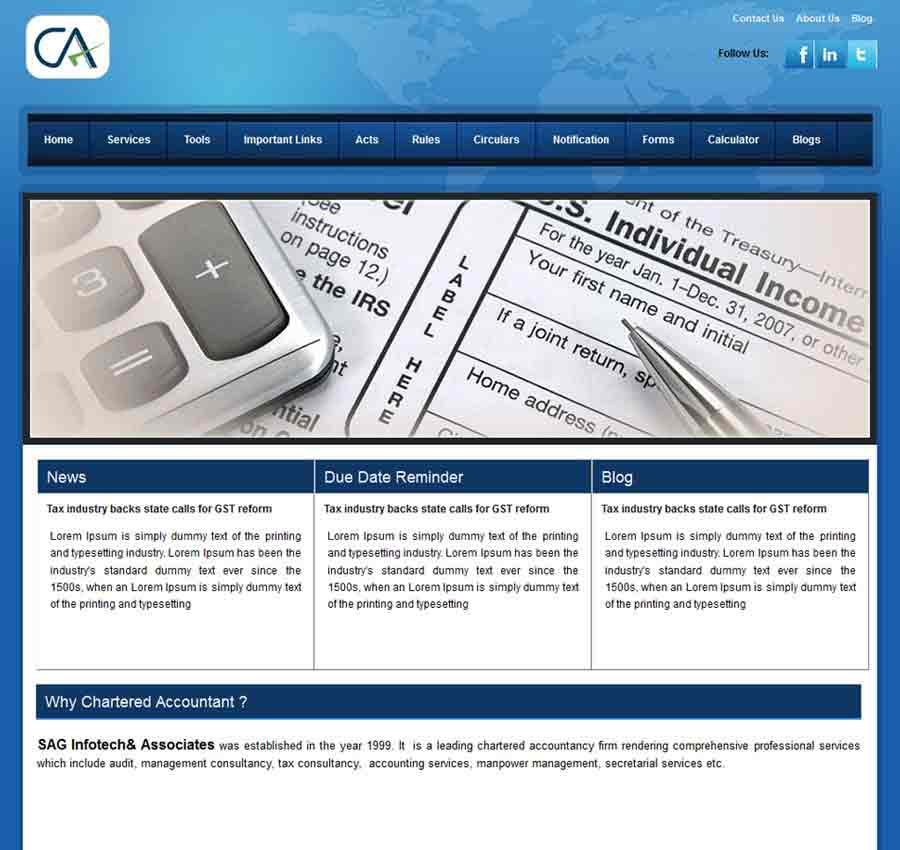 Chartered Accountant Theme7