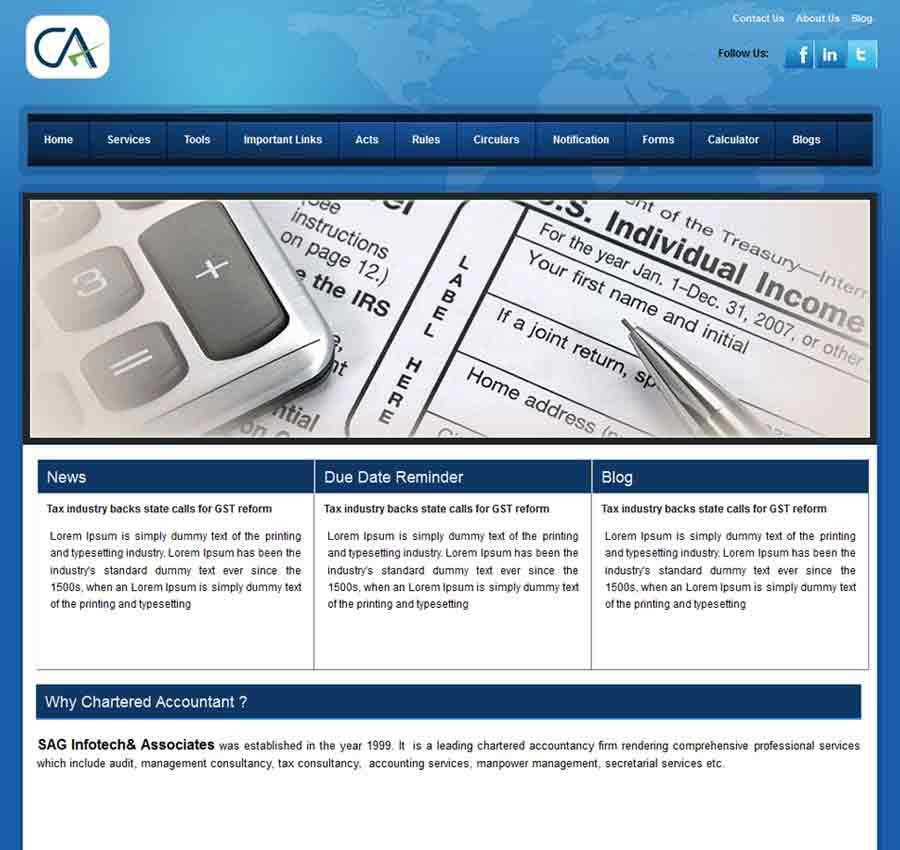 Chartered Accountant Theme7