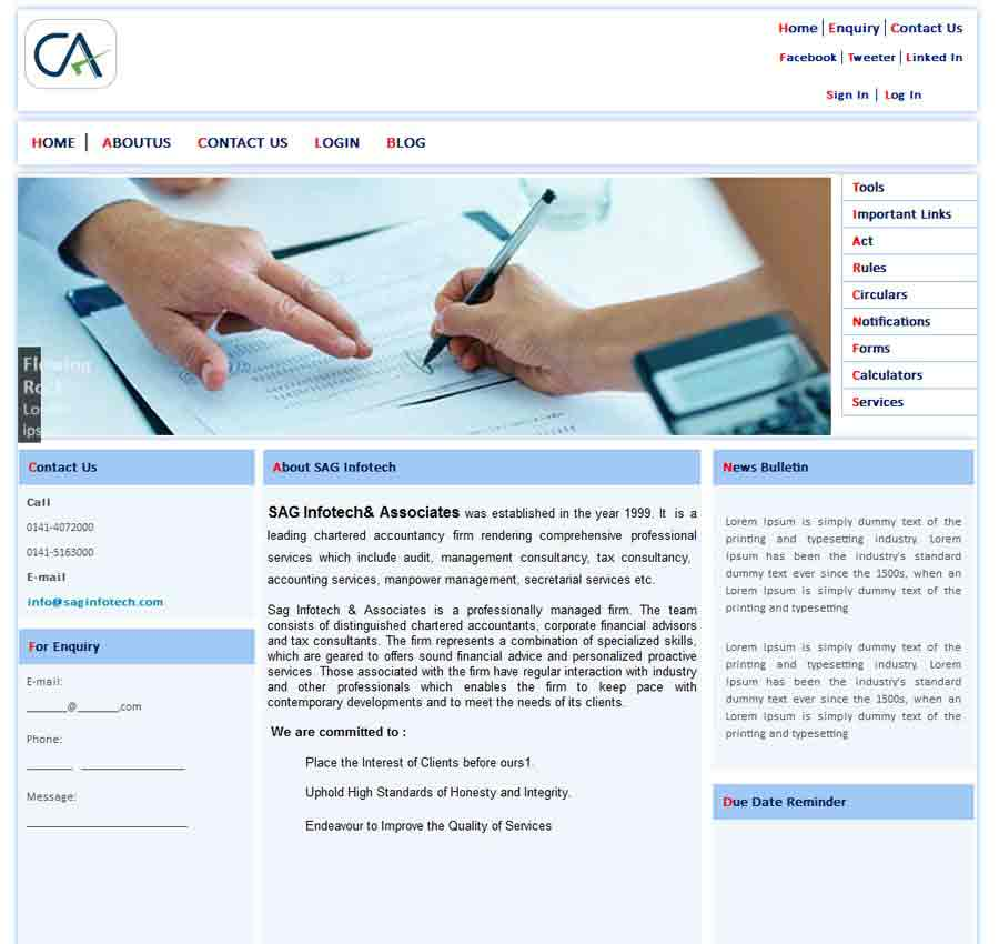 Chartered Accountant Theme60