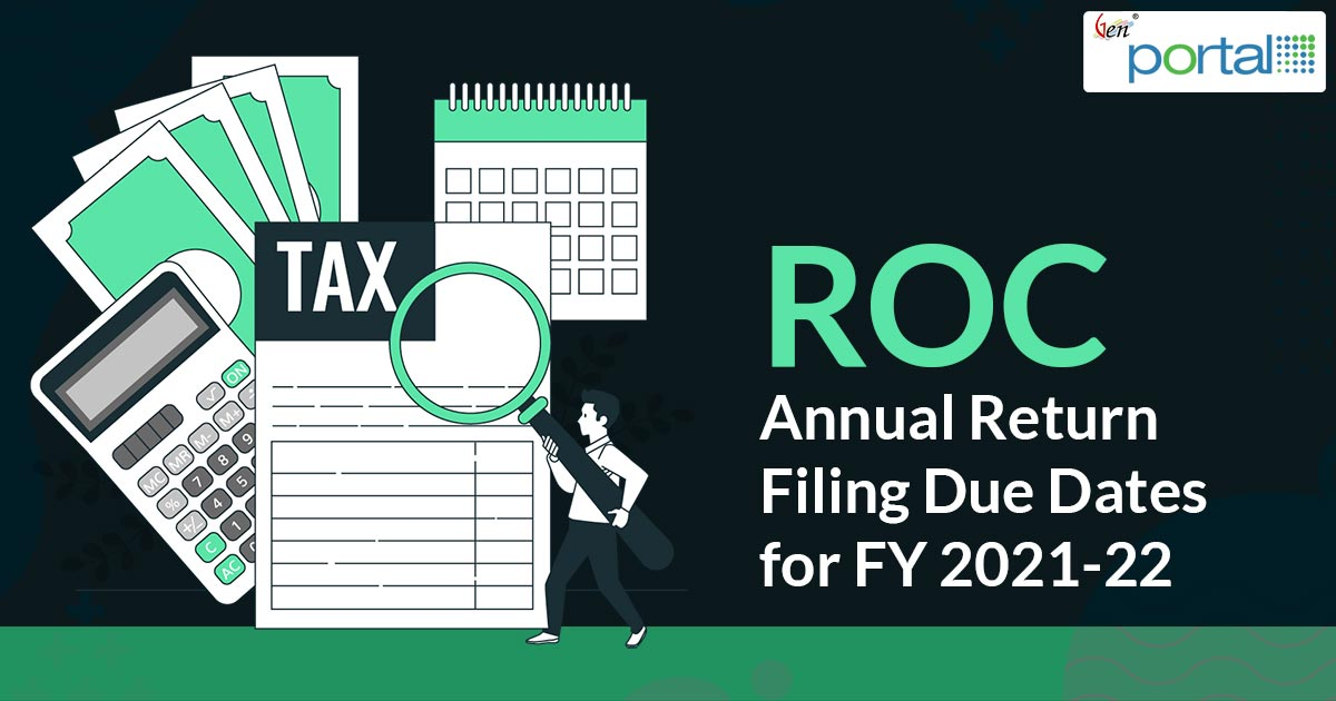 ROC Annual Return Filing Due Dates for FY 2019-20
