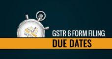 GSTR 6 Form Filing Due Date For November 2018