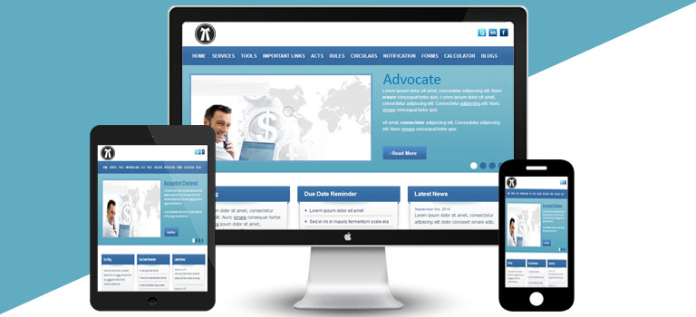 White Blue lawyer Theme