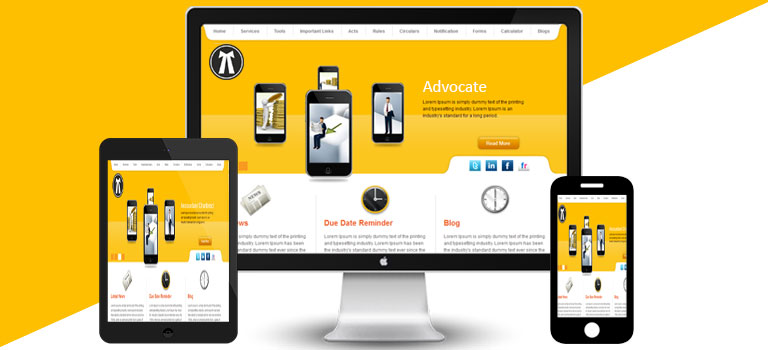 Yellow White Lawyer Theme