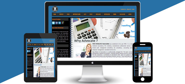 Black Blue Lawyer Theme
