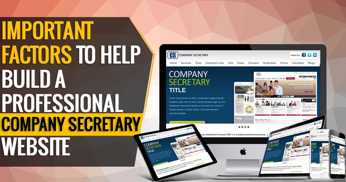 Company Secretary Website Design
