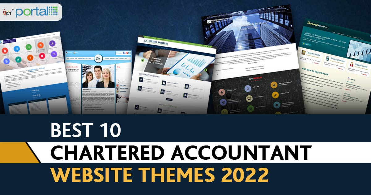 Top 10 Chartered Accountant Website Themes 2020