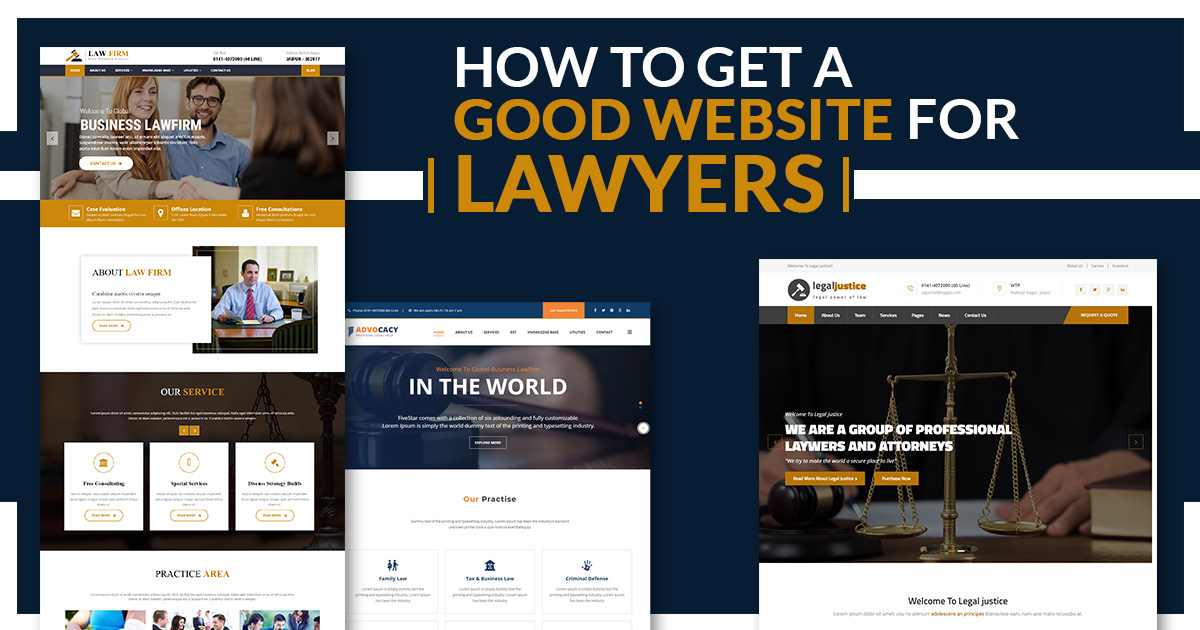 How to Get a Good Website for Lawyers