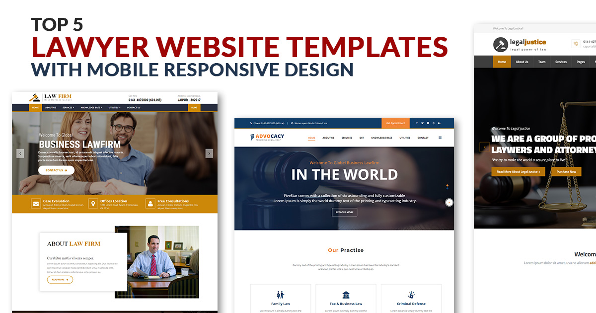 5 Best Lawyer Website Templates With Responsive Design