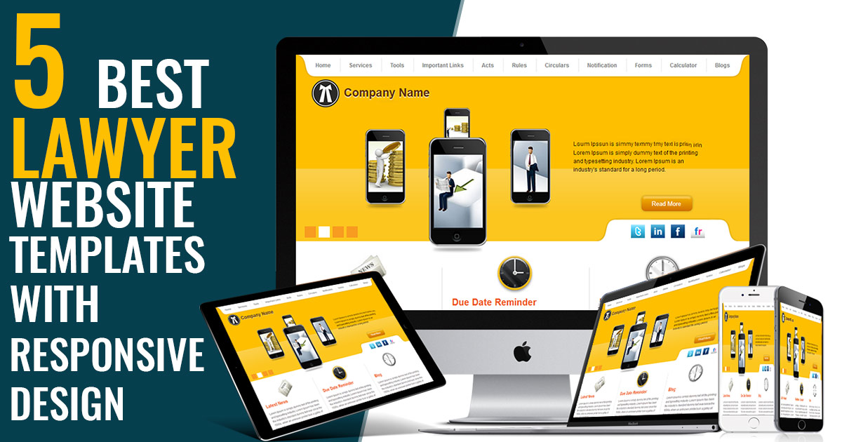 Responsive Lawyer Website Templates