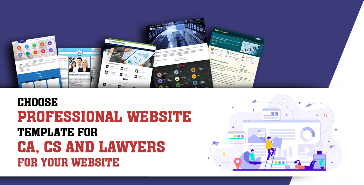 Choose The Most Happening Professional Website Template For CA, CS and Lawyers For Your Website
