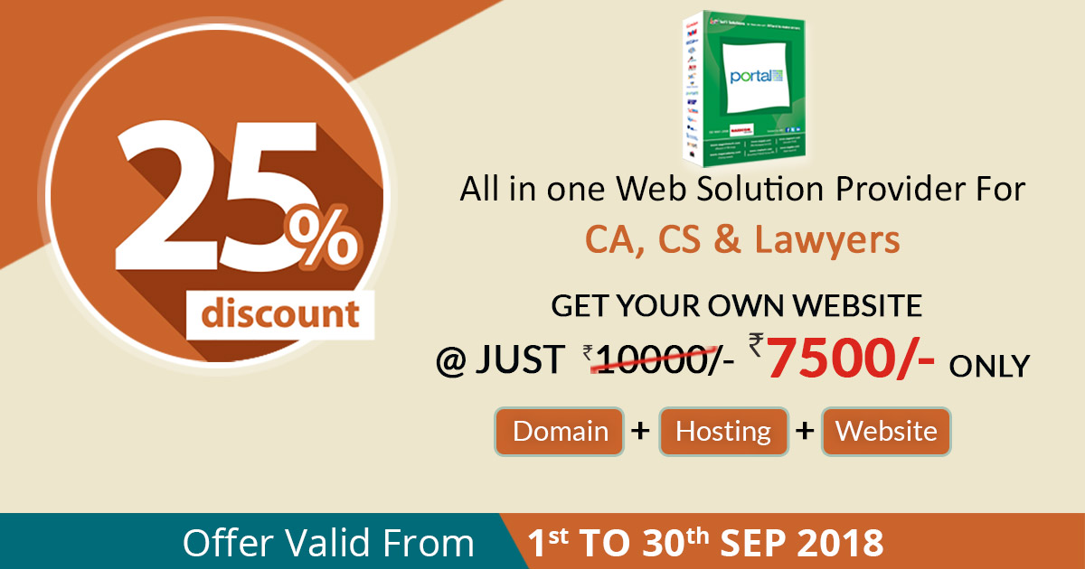 (Over) Flat 25% Discount On CA, CS & LAWYER Website with Complete Website Package