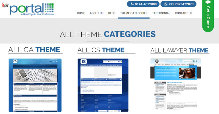 Choose Theme For CA, CS and Lawyer