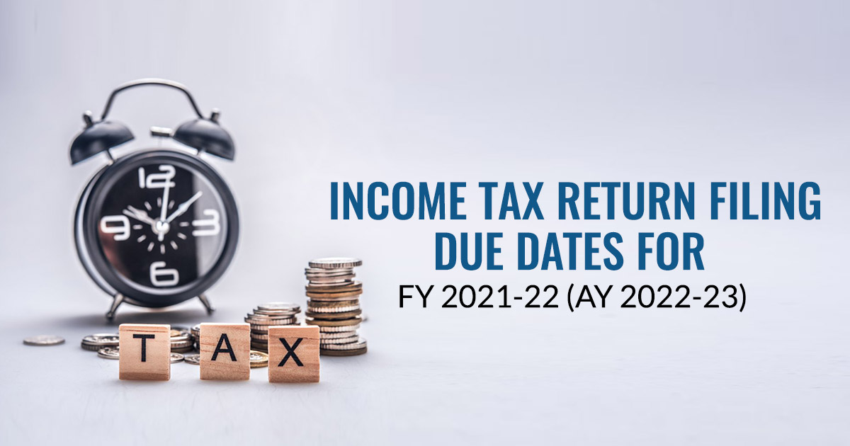 Due Dates For Filing Income Tax Return FY 2018-19 | CA Portal
