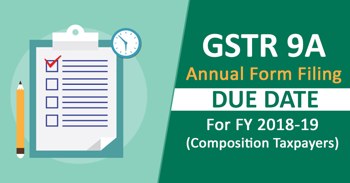 gstr 9A form filing Due date