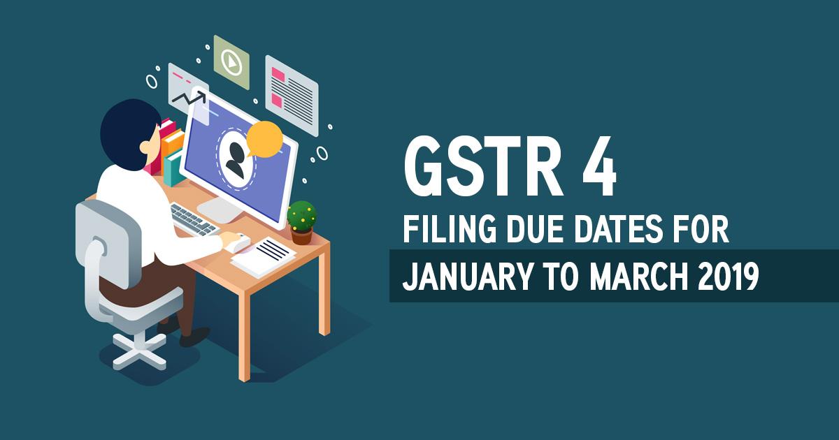 GSTR 4 Filing Due Date
