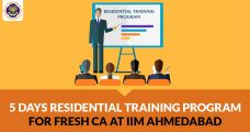 5 Days Residential Training Program For Fresh CA At IIM Ahmedabad From April Co-hosted by ICAI and IIM