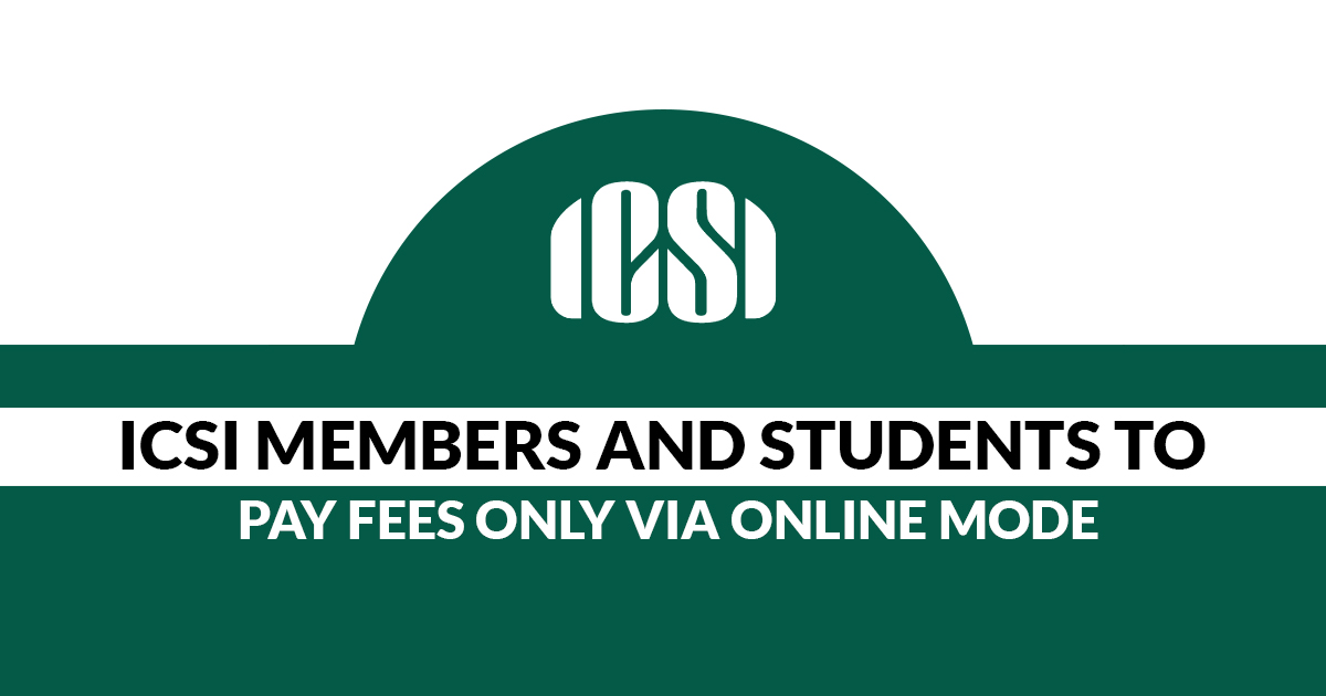ICSI Fees through Online Mode