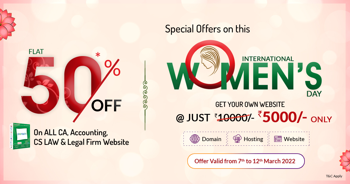(Over) Women's Day Special: Flat 40% Off on Accounting & Law  Professional website with Complete Website Package