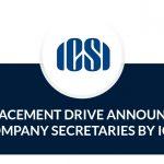 mega placement drive for company secretaries