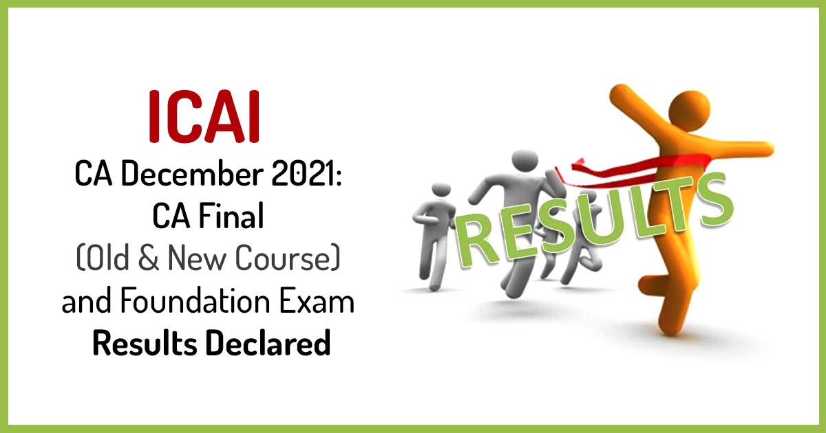 ICAI CA Nov 2019 Foundation, Intermediate Exam Results Declares Today