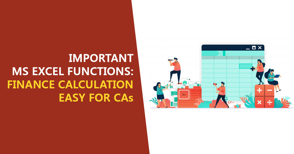 important MS Excel Functions CA