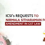 ICSI's requests to Nirmala Sitharaman