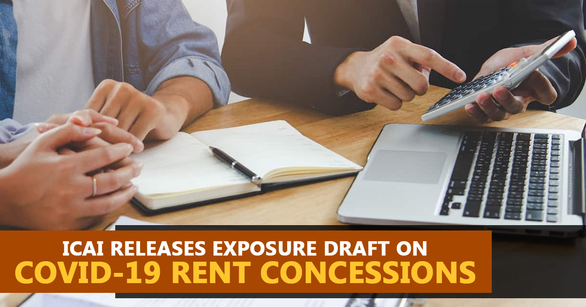ICAI Releases Exposure Draft on COVID-19 Rent Concessions