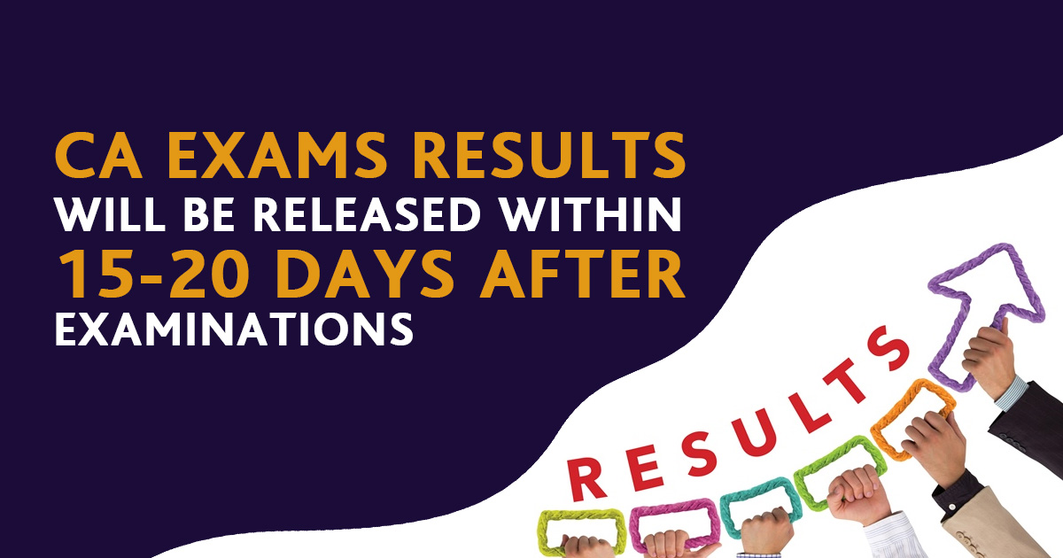 CA Exams Results will be released within 15-20 days after Examinations