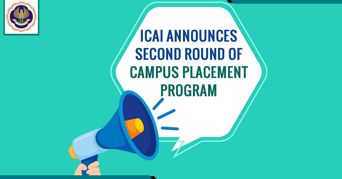ICAI Announces Campus Placement Program
