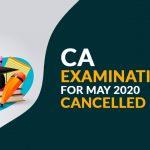 ICAI cancelled ca examinations may-2020