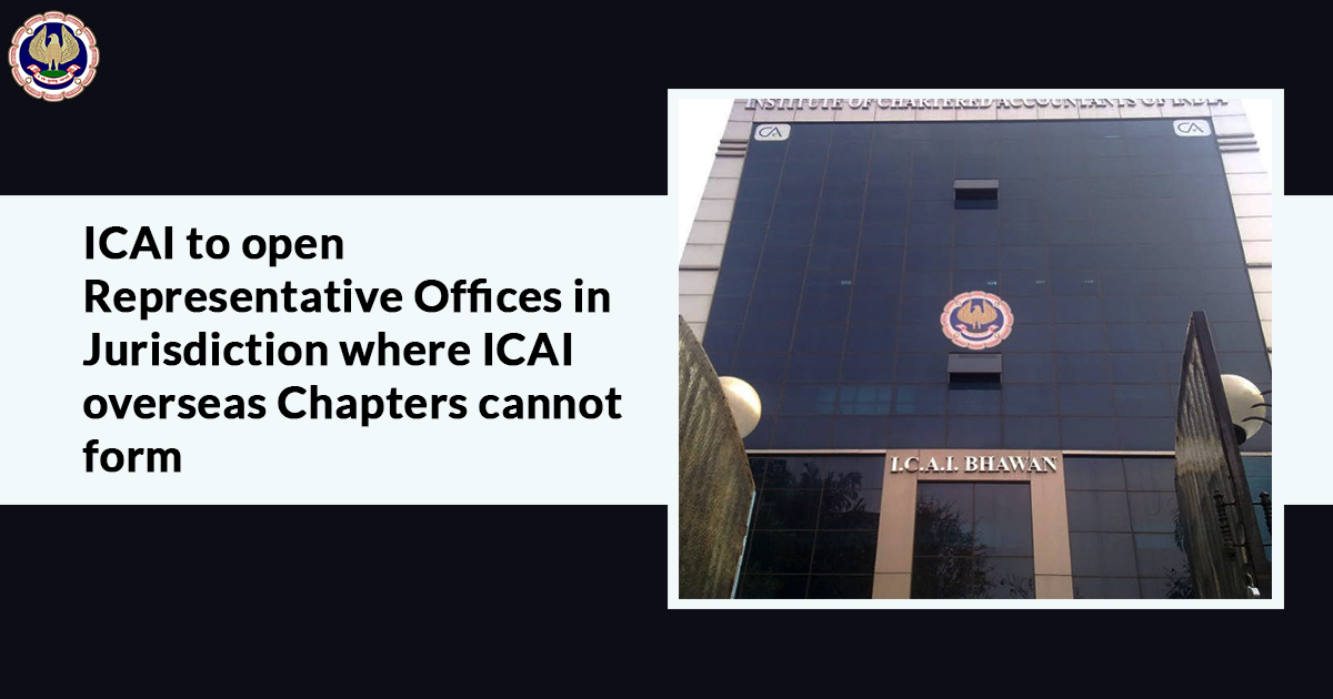 ICAI overseas Chapters cannot be formed