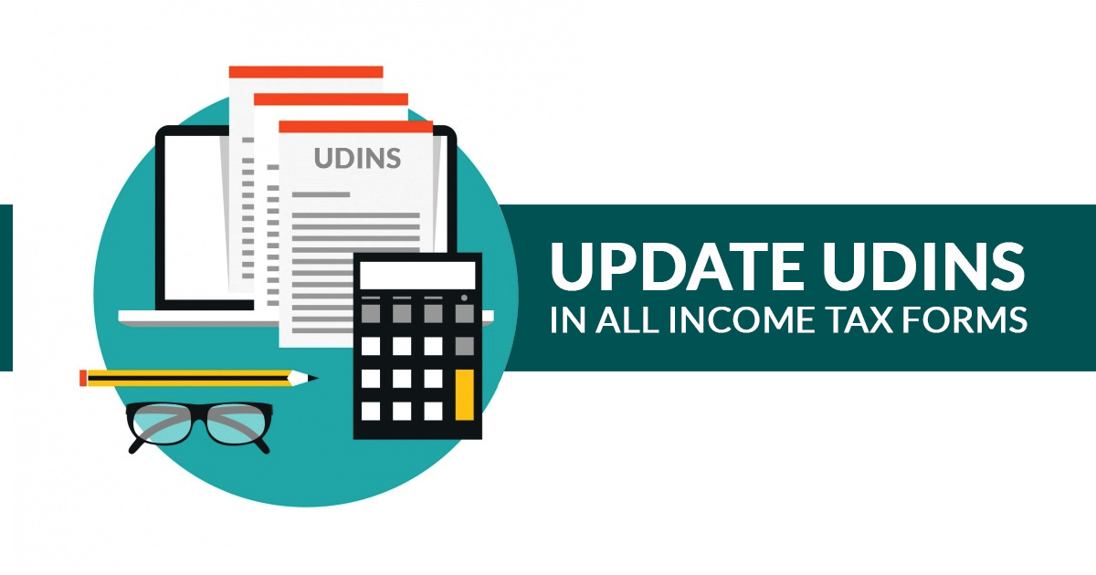 UDINs in all Income Tax Forms