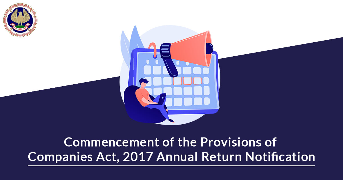 notification of the provisions Annual Return of Companies act 2017