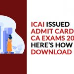 Admit Card for CA Exams 2021