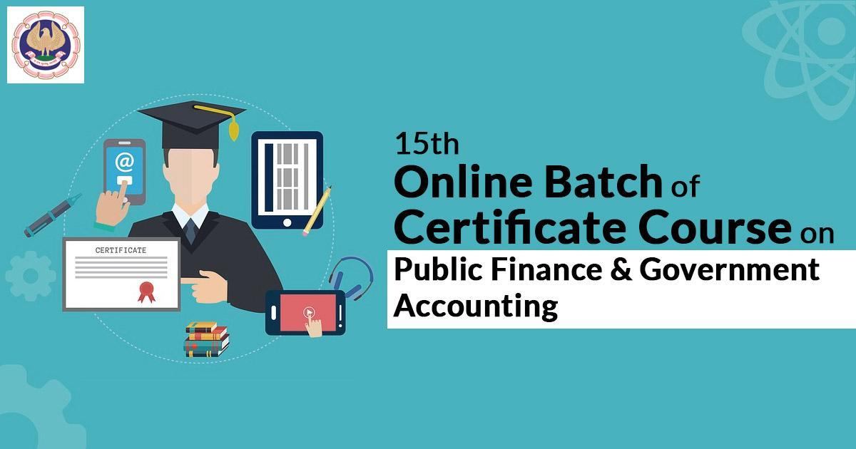 Online Batch of Certificate Course on Public Finance