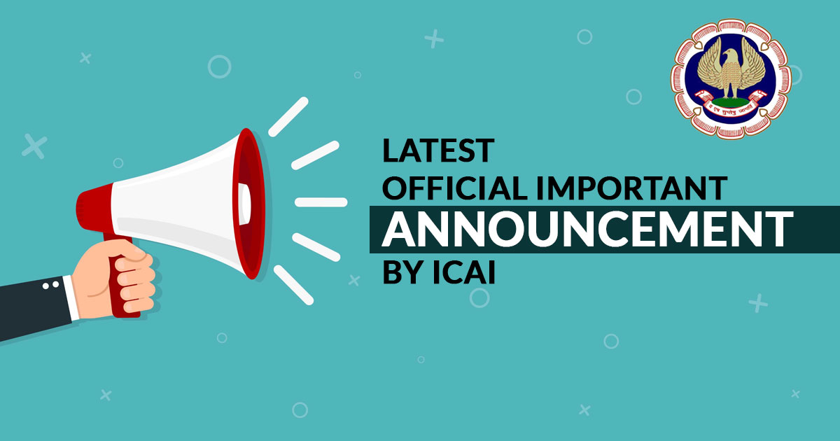 latest official update icai